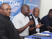 *L-R: Marketing Manager, SuperSport, Chidozie Bede-Nwokoye;  GM, SuperSport, Felix Awogu; GM, Marketing & Sales, Multichoice,   Martin Mabutho; and Head of PR, Multichoice Nigeria, Segun Fayose;  during the European pre-season parley in Surulere, Lagos recently.