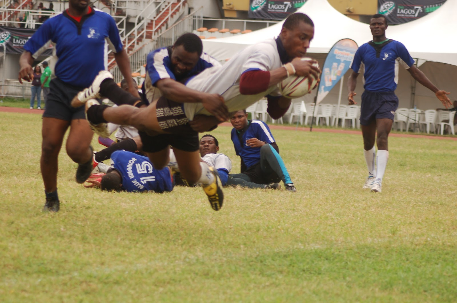Lagos 7s Rugby action
