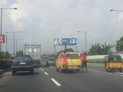 Skaters on the highway