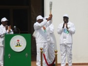 Jonathan receives Queens Baton for Commonwealth Games
