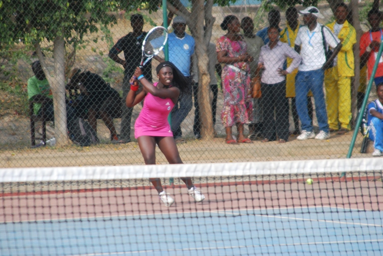 Lizzy Pam of Nigeria in action