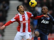 osaze in debut match for stoke against man United