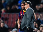 Barca manager and Messi