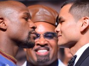 Mayweather with Maidana