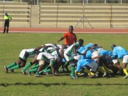 Nigeria Rugby team in action against Swaziland