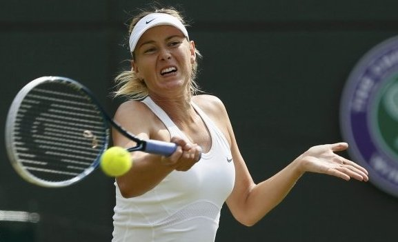 Sharapova in action
