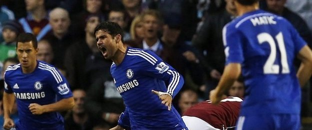 Costa scores in Chelsea debut match