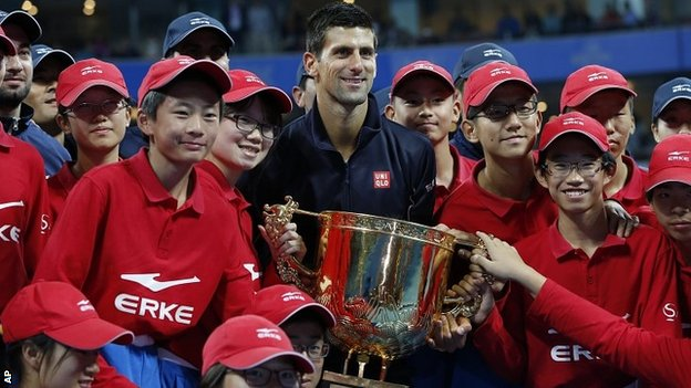 Djokovic wins China Open