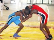 Nigeria wrestlers in action