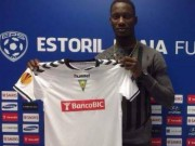 Alampasu shows off his new Estoril jersey
