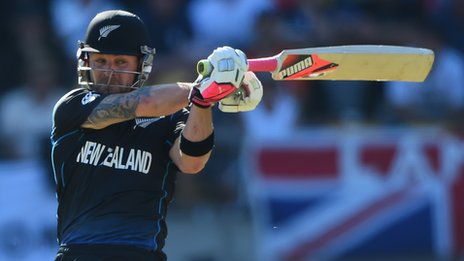Cricket Mccullum of New Zealand in action
