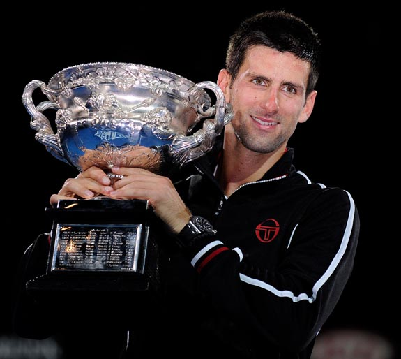 Djokovic with Aussie Open trophy