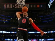 Westbrook dunks in the All Stars Game