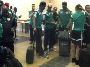Eagles on arrival in South Africa