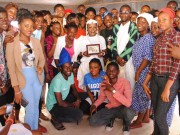 Helen Paul with students