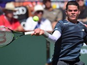 Raonic in action