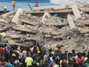 Synagogue collapsed building