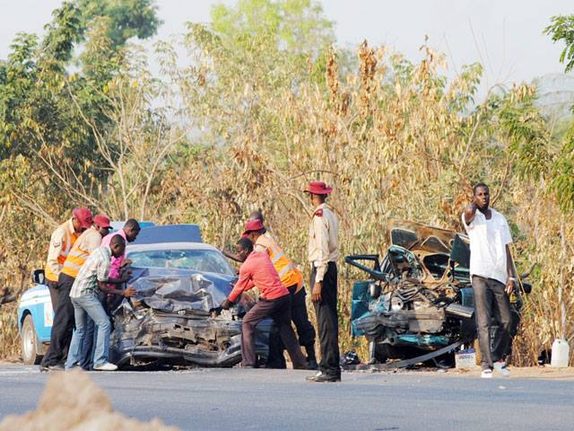 Accident scene where the pastor and others died