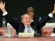 Blatter celebrates in style