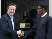 Buhari with UK official
