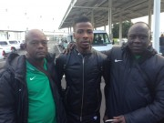 Iheanacho with Flying Eagles coach Garba