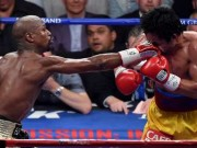 Mayweather lands a dirty jab on Pacquiao