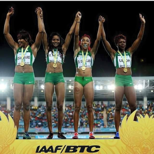 Team Nigeria relay quartet win gold at IAAF