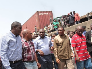 Ambode visits Apapa traffic points
