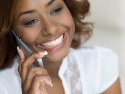 Lady receiving telephone call