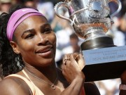 Serena with the 2015 French Open title