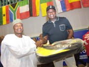 Ambode with Yakmut at Badminton classics in Lagos