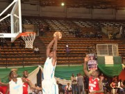 Tunde Yinusa of Union Bank goes for a dunk
