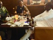 Akon with KCEE sign deal in Lagos