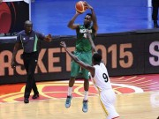Chamberlain Oguchi of Nigeria against Uganda at Afrobasket 2015