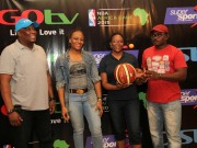 Gotv managers at NBA Game in Africa