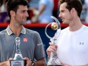 Murray with Djokovic at Rogers final