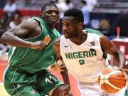 Oguchi of Nigeria drives ball away at Afrobasket 2015