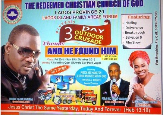 Pasuma in Redeemed Church Poster