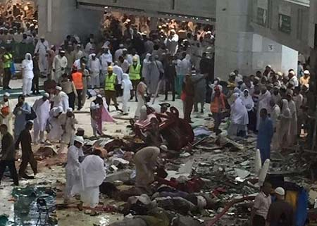 Mecca accident caused by crane
