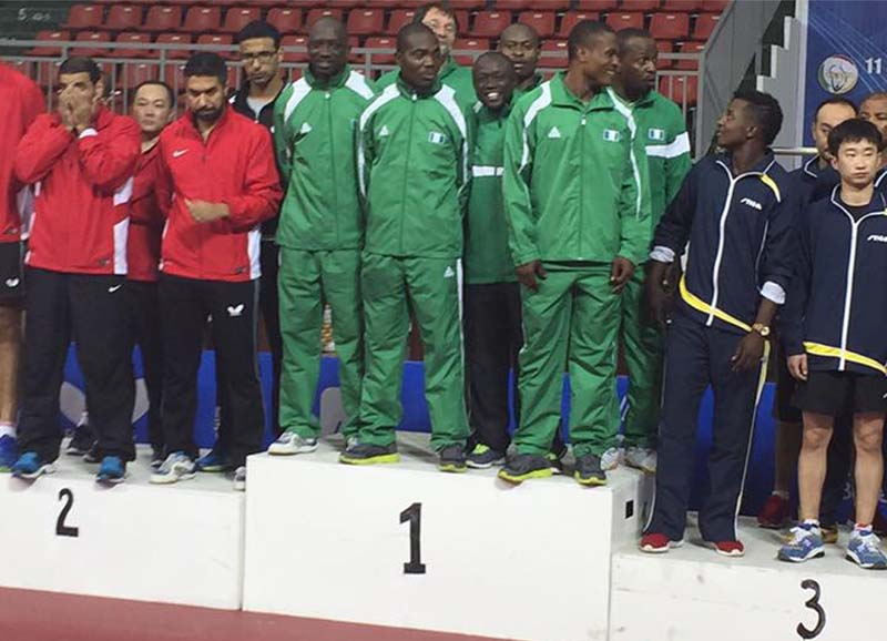 Team Nigeria Table Tennis win gold at All Africa games