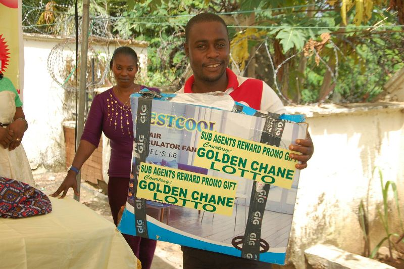 Golden Chance Lotto Rewards Abuja Sub Agents 2