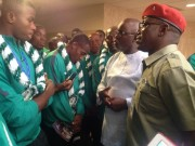 Dalung with football heroes
