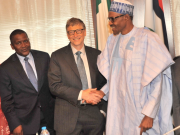 Dangote with Bill Gate & Buhari