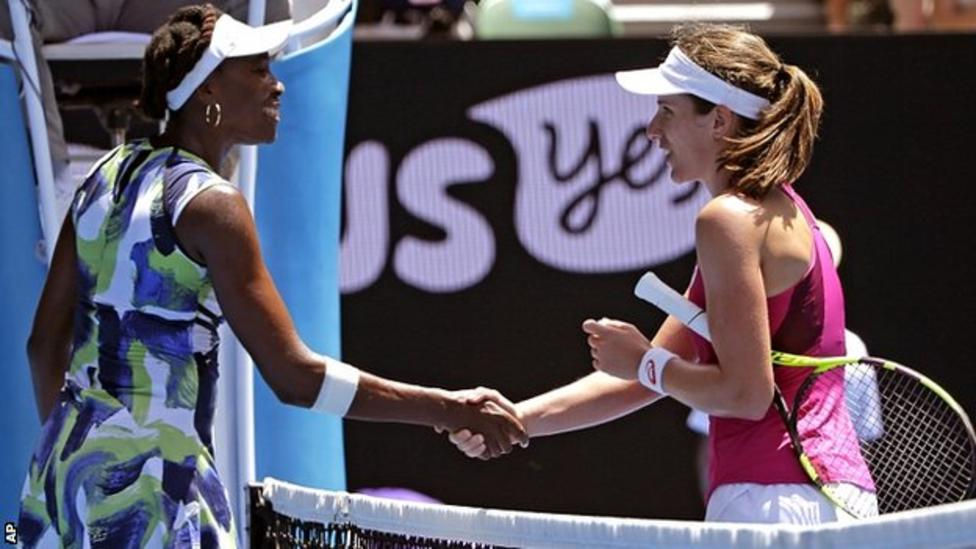 Konta beats Venus at Aussie Open