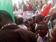 NLC protest at PHCN office in Abuja