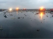 Plane fly dubai crash site
