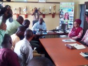 Oyo Sports Commissioner Yomi Oke with journalists