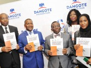 Dangote (middle) with other big wigs unite against Malaria.