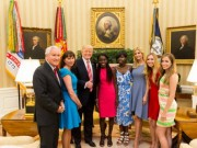 Trump with Chibok girls