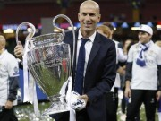 Zidane with Champions League trophy